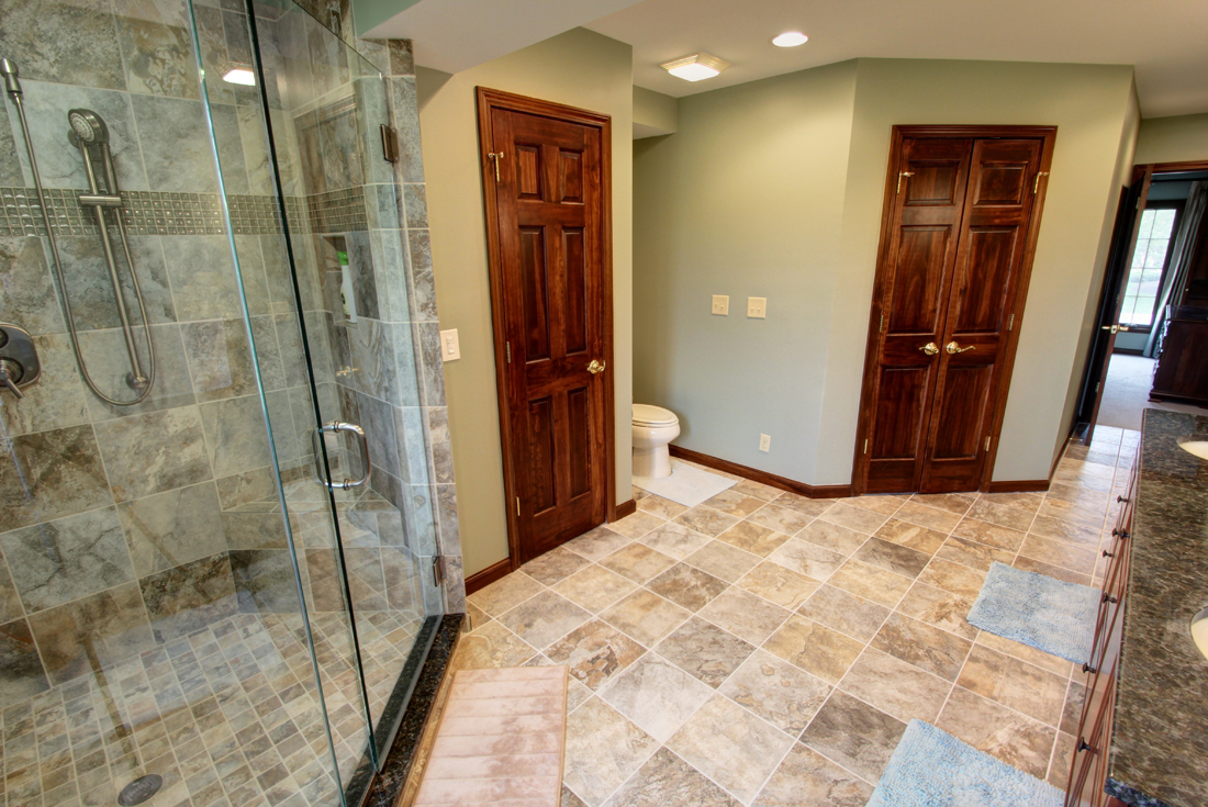 colonial home master bath remodel