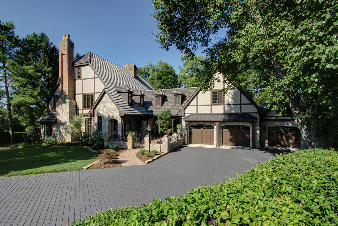 tudor home garage addition