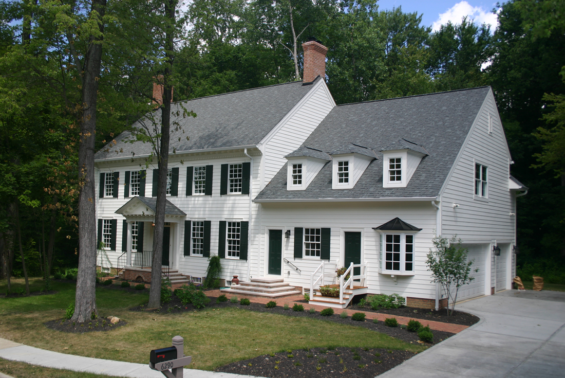 williamsburg colonial custom home