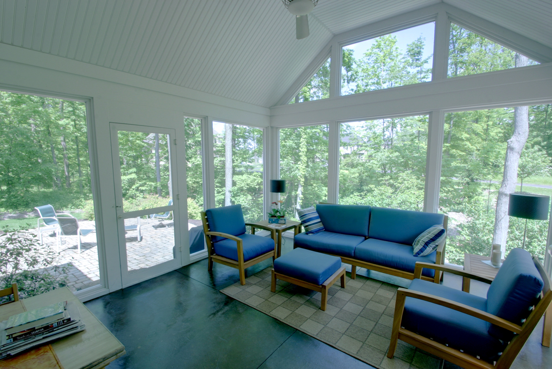 new england cottage screened porch