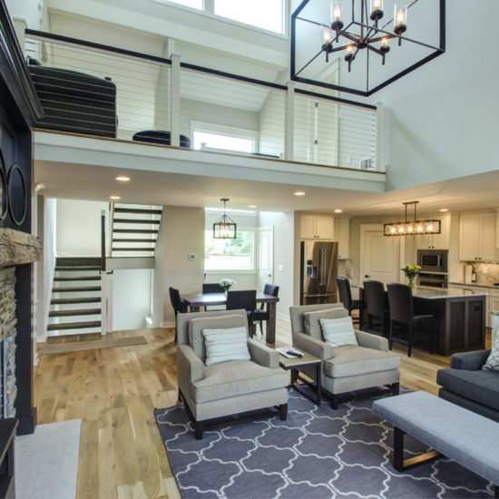 contemporary family room remodel