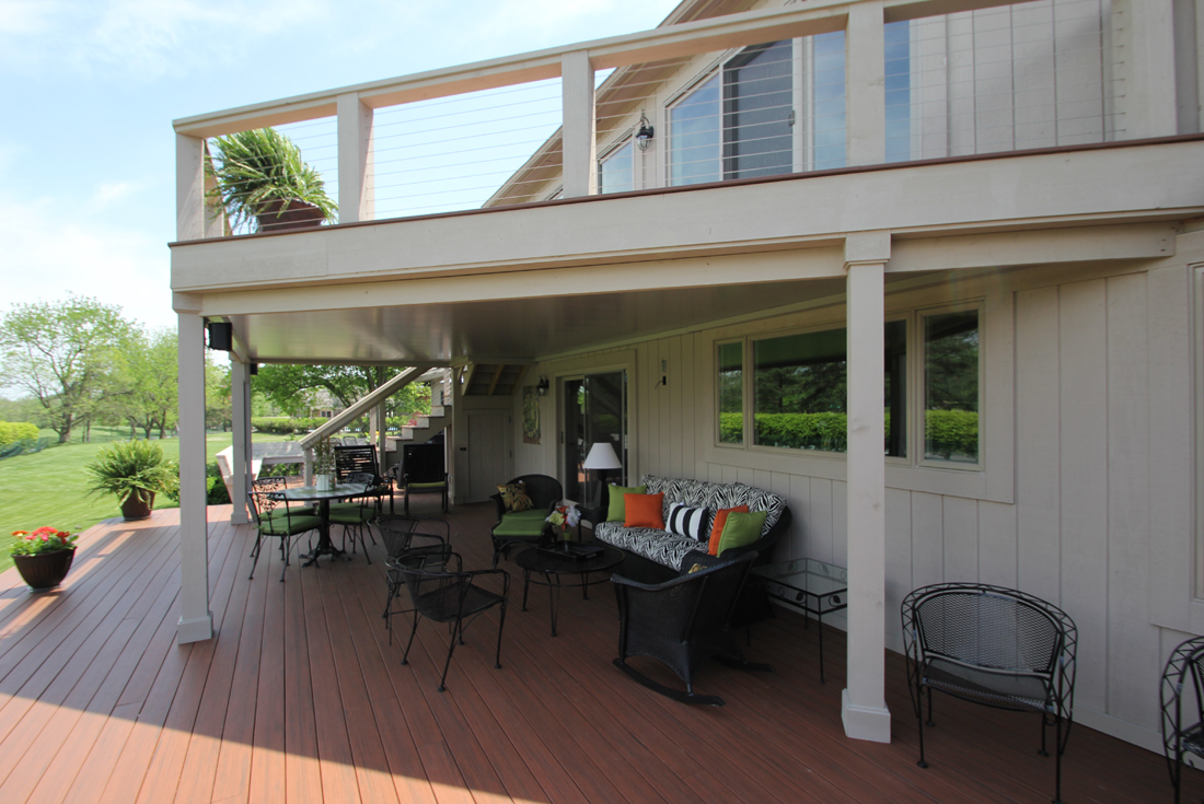 covered deck ceiling