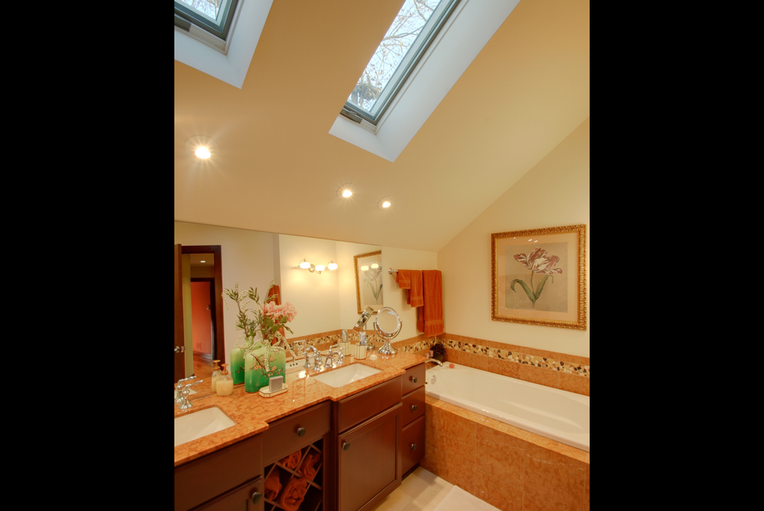 custom contemporary home master bath