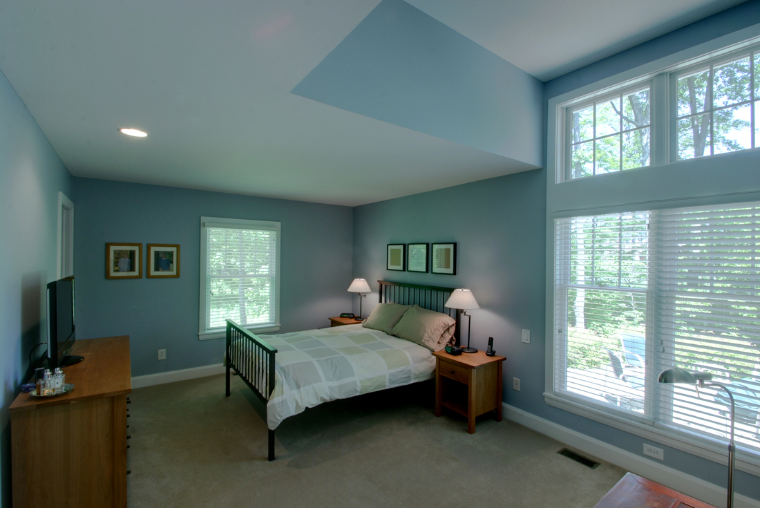 cape cod custom home master bedroom