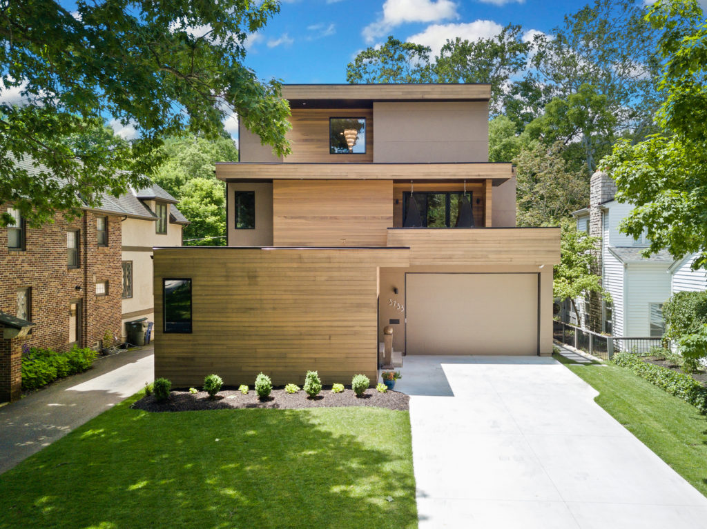contemporary infill home